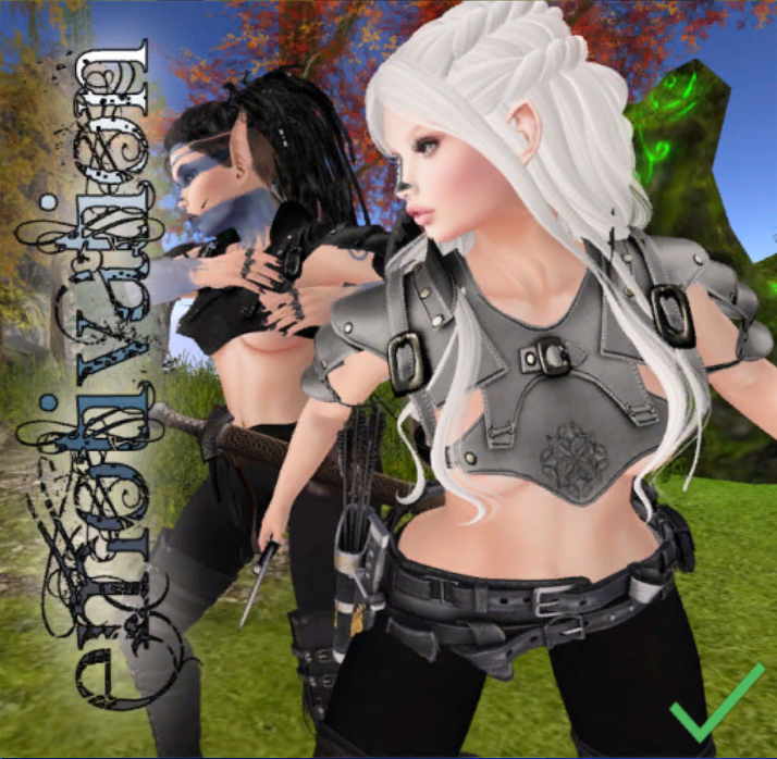 Elven Forest [-e-] Womens Leather Pauldrons